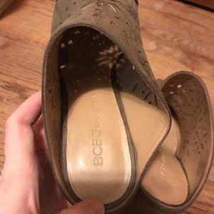 BCBGeneration Shoes - BCBG generation floral cut-pot booties tan suede